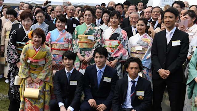 Yuzuru Hanyu amongst guests at Garden Party
