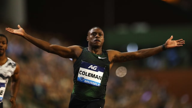 Christian Coleman won the last 100m Diamond League event in Brussels