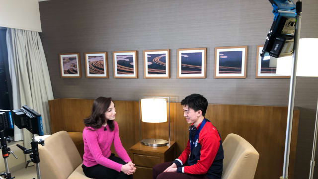 Meryl Davis with Vincent Zhou