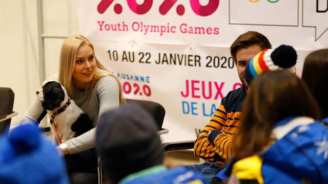 Lindsey Vonn is an ambassador for Lausanne 2020.