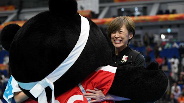 中田久美は本格的なキャリアから1年ほどで全日本に。18歳の時に出場したロサンゼルス五輪では銅メダルを獲得