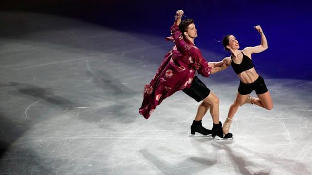Italy's Nicole Della Monica and Matteo Guarise perform during the gala exhibition. (REUTERS/Issei Kato)