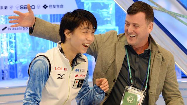 Yuzuru Hanyu and Brian Orser