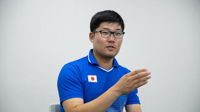 アーチェリーの見どころを解説する古川選手