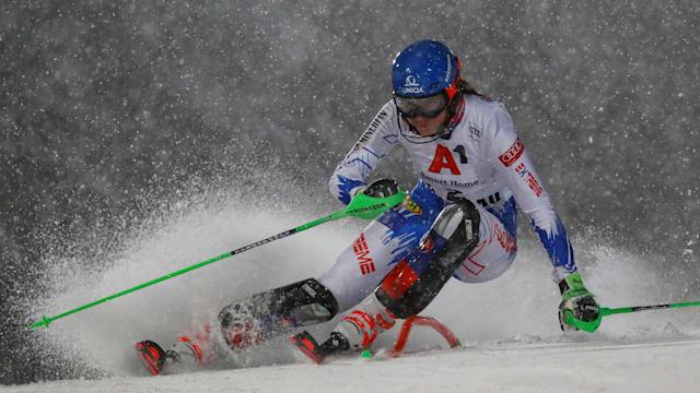 Slovakia's Petra Vlhova in action at the FIS Alpine Ski World Cup slalom in Flachau, Austria. (REUTERS/Leonhard Foeger)