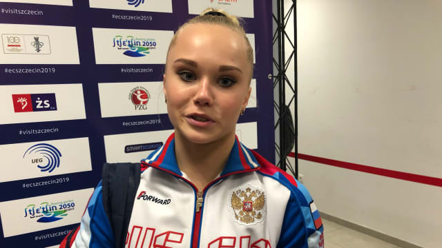 Angelina Melnikova finished third in the all-around
