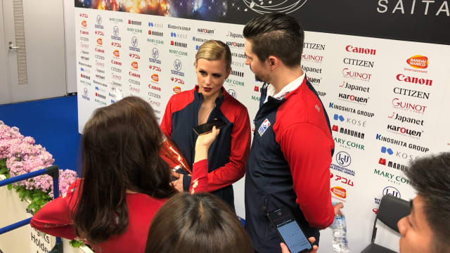 Madison Hubbell and Zach Donohue speak to Meryl Davis