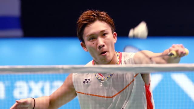 Kento Momota at the Malaysian Open in April 2016 a day before receiving a one-year ban