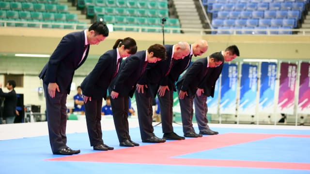 Judges and referees for READY STEADY TOKYO Karate Test Event
