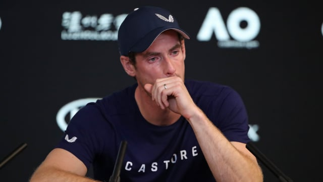 Andy Murray during his emotional press conference