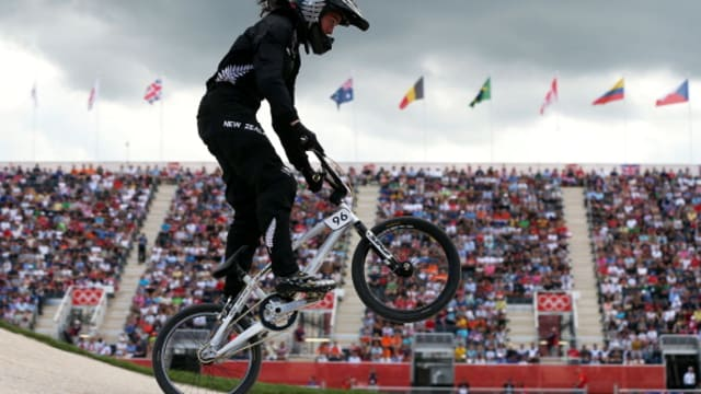 Sarah Walker competes at the London 2012 Olympics