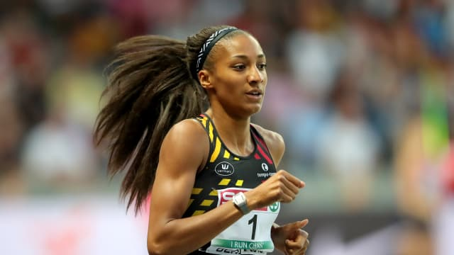 Nafissatou Thiam of Belgium returns to defend her IAAF Female Athlete of the Year award.