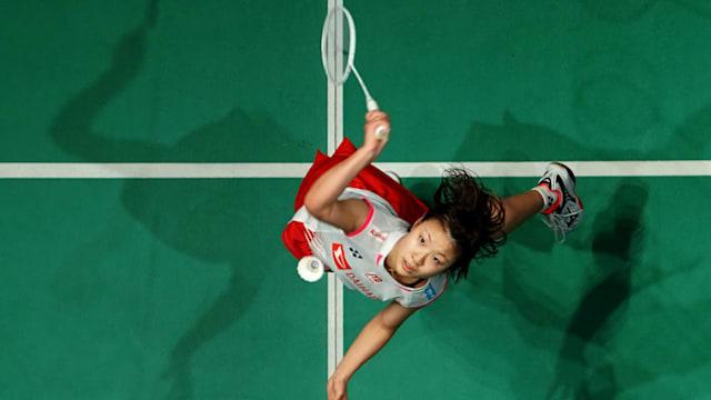 女子シングルスでマレーシアに勝利した奥原希望(画像はマレーシアオープン2019)