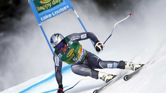 Aksel Lund Svindal in action during the Super G Lake Louise