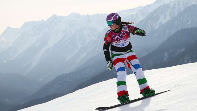 Michela Moioli racing at Sochi 2014