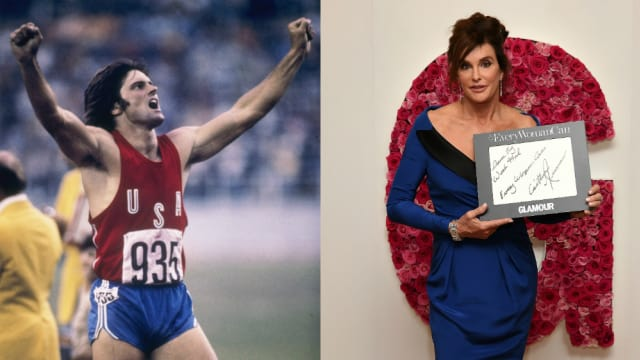 ブルース・ジェンナー(左)は、金メダルを得た後、性同一性障害を公表し、ケイトリン・ジェンナー(右)として「第二の人生」を歩んでいる