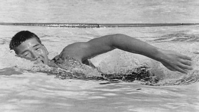 15歳の宮崎康二は1932年のロサンゼルス五輪で2つの金メダルを獲得してみせた