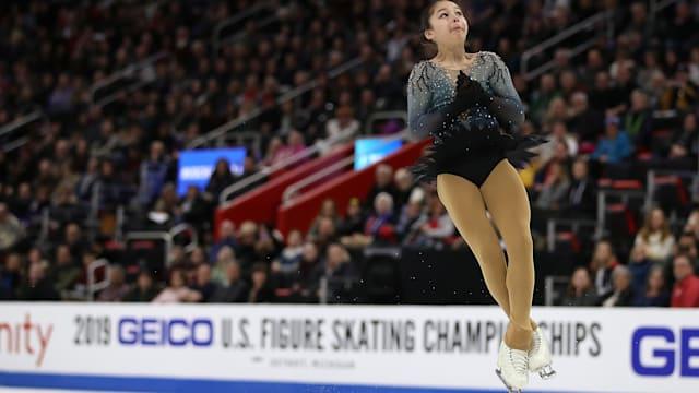 Alysa Liu competes during the 2019 U.S. Figure Skating Championships