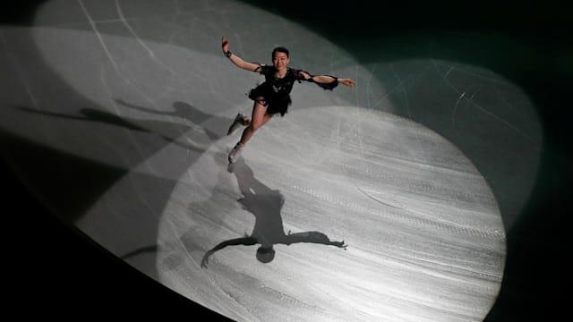 Rika Kihira of Japan during her exhibition skate (REUTERS-Issei Kato)