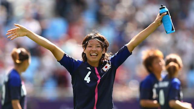 Saki Kumaga at the London 2012 Olympics, where Japan won silver
