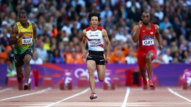 大学2年次の2012年にはロンドン五輪に出場。100メートルでは自己記録を更新する10秒07をマークした