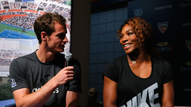 Andy Murray and Serena Williams at the US Open