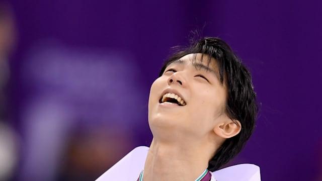 Yuzuru Hanyu's joy at PyeongChang 2018