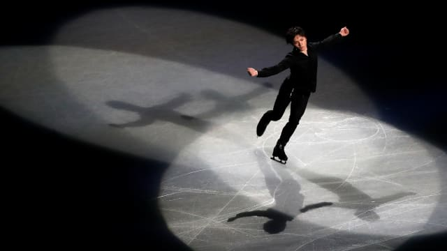 Japan's Shoma Uno performs during the gala exhibition. (REUTERS-Issei Kato)