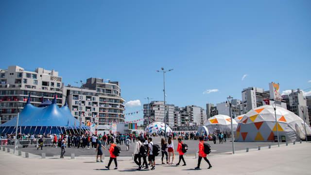 ブエノスアイレスの郊外にあるユースオリンピック選手村