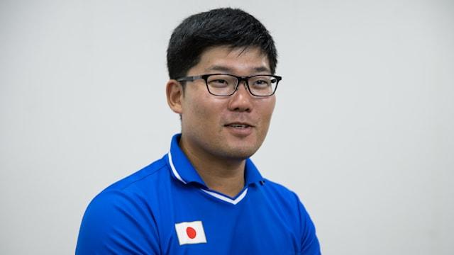 国際大会では常にベスト8を目指しているという古川高晴選手