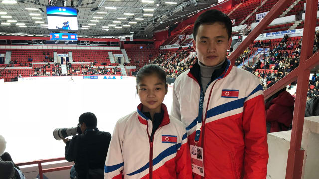 North Korea figure skaters Ryom Tae-ok and Kim Ju-sik