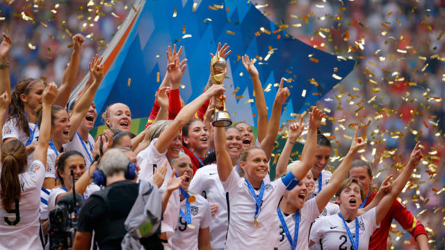 前回大会の決勝で日本を破り、優勝を果たしたアメリカ