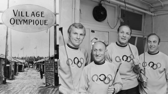 1924年のパリ五輪で選手村の基礎がつくられた。右は同大会に参加したイングランドのアスリートたち