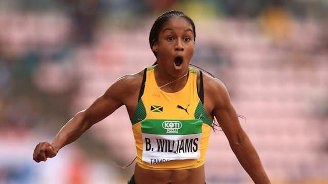 Briana Williams of Jamaica wins 100m at IAAF World U20 Championships