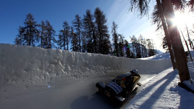 Lausanne 2020: The historic St. Moritz bobsleigh track.