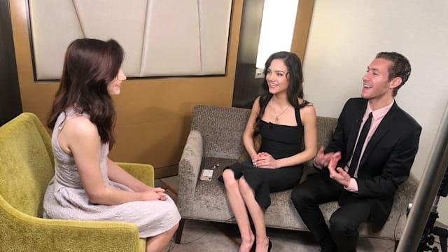 Meryl Davis chats to Evgenia Medvedeva and Jason Brown