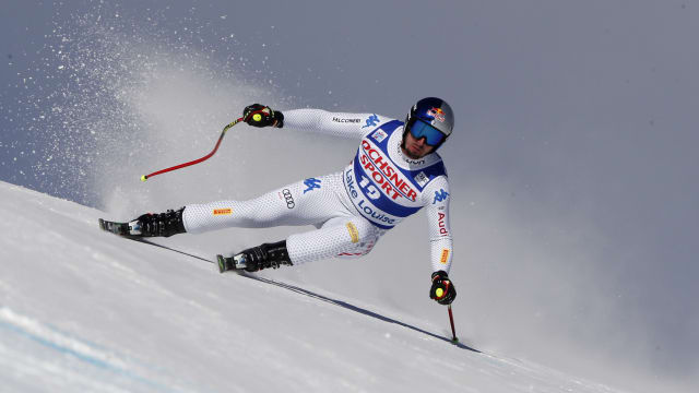 Paris during the downhill in Lake Louise, where he finished third