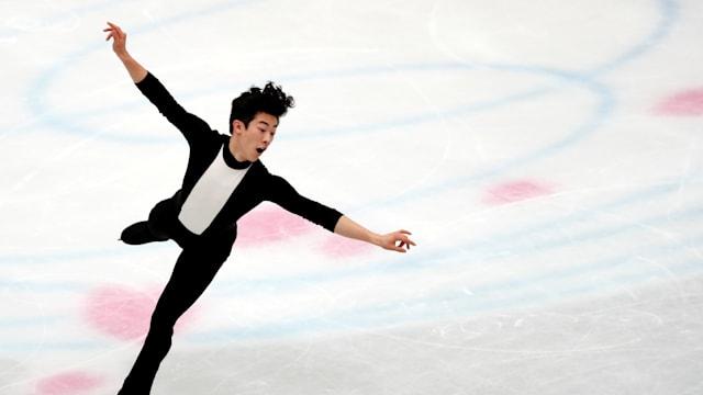 Nathan Chen during his short program at the World Championships in Saitama
