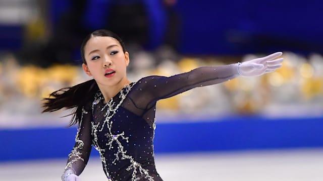 Rika Kihira during her free skate at the Japan Figure Skating Championships in Osaka
