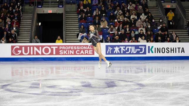 Rika Kihira skates in the ladies' free skate at the 2018 ISU Grand Prix Final.