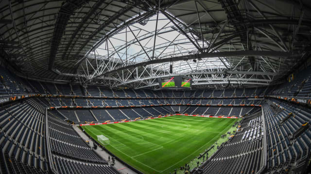An internal view of the Friends Arena in Stockholm, proposed site of the 2026 Opening Ceremony. (Photo by Stephen McCarthy/UEFA via Getty Images)