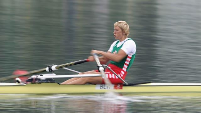 Ekaterina Karsten competing at Beijing 2008