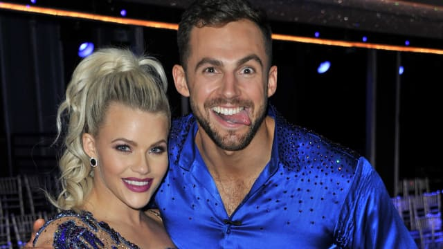 Olympic Luger Chris Madzer with dance partner