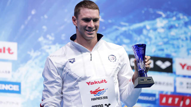 Ryan Murphy received the MVP award at the Pan Pacs in Tokyo