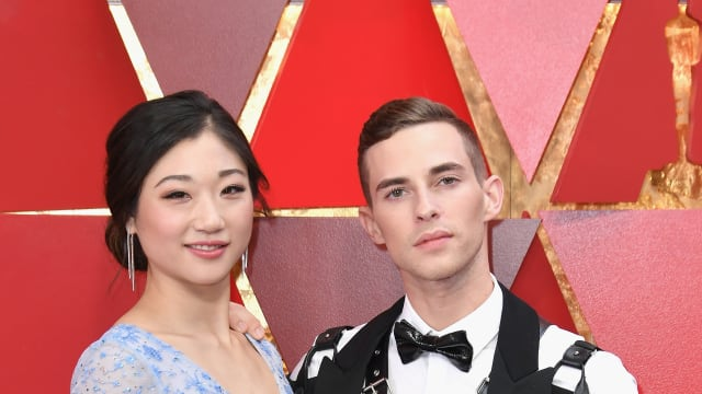 Mirai Nagasu and Adam Rippon attend the 90th Academy Awards, familiarly known as the Oscars