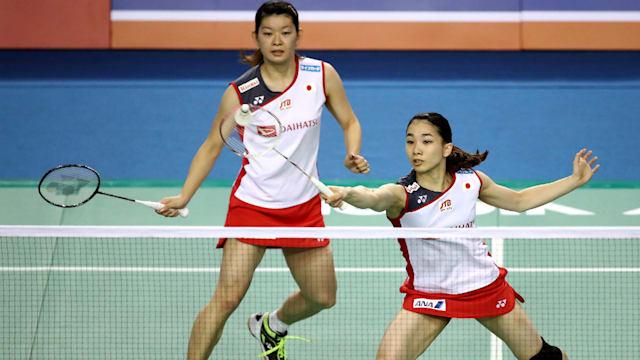 髙橋礼華(奥)&松友美佐紀(手前)の「タカマツ」ペアはリオデジャネイロ五輪の女子ダブルスで金メダルを獲得した