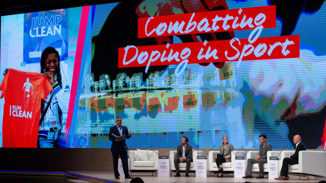 The 'Combatting Doping in Sport: A Battle Worth Fighting' panel discussion