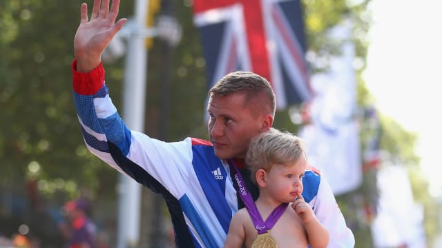 David Weir celebrating after London 2012