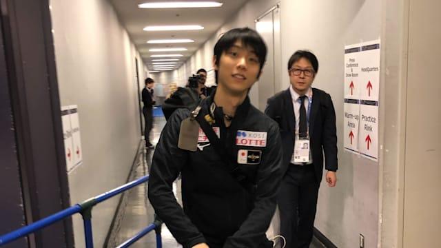 Yuzuru Hanyu ready for the exhibition gala