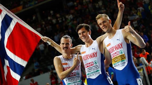 Team Ingebrigtsen (L-R): Henrik, Jakob, Filip